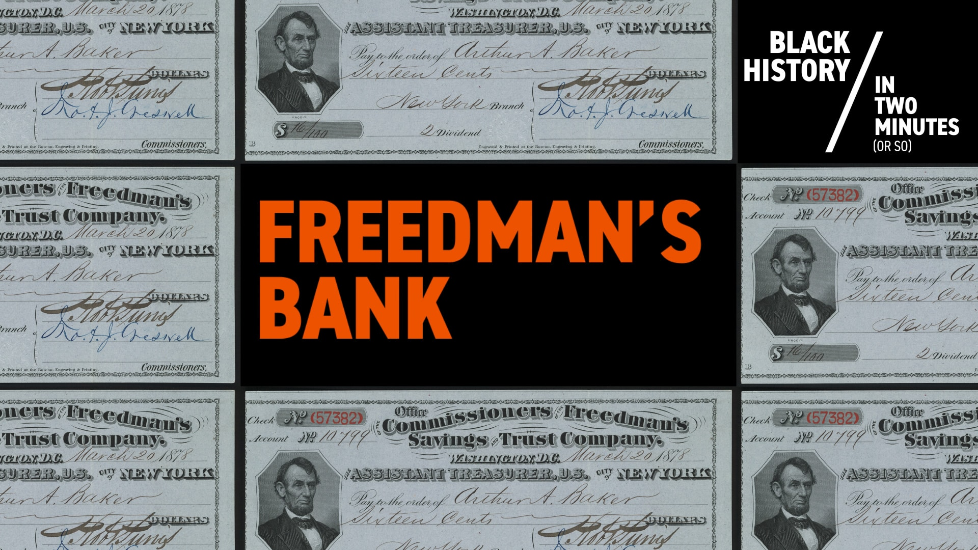 The Freedmans Bank | Black History in Two Minutes