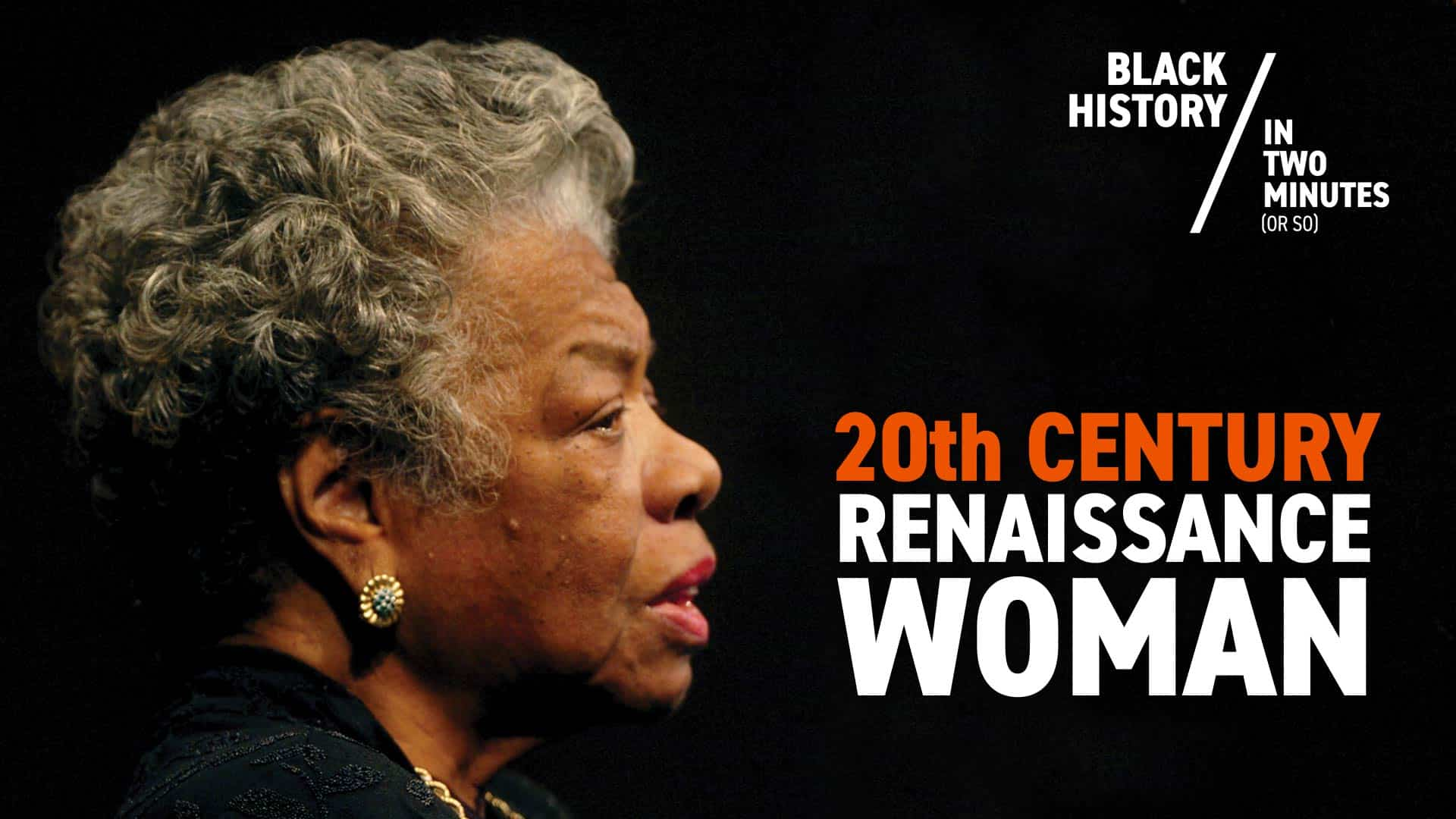 Maya Angelou | Black History in Two Minutes
